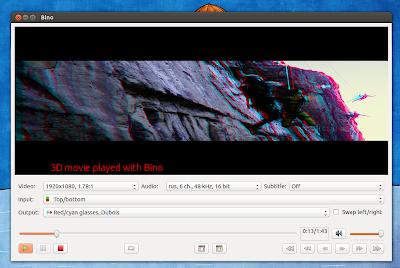 Bino - Player 3D para Ubuntu