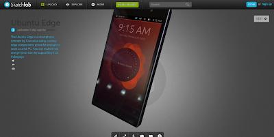 Quer conhecer o Ubuntu Edge? Que tal dar uma olhada no visual dele em 3D?