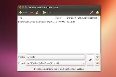 Selene Media Encoder - Um conversor de mídias para Ubuntu e Linux Mint baseado no FFMPEG