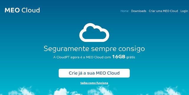 MEO Cloud - Serviço de armazenamento em nuvem que te dá 16 GB grátis