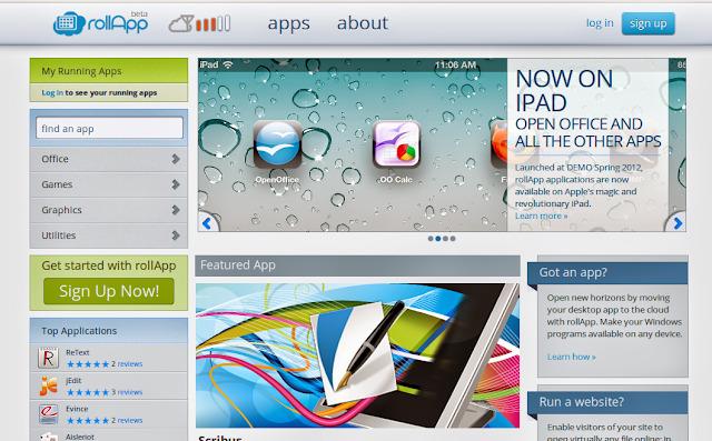 RollApp: Aplicativos OpenSource pela Internet
