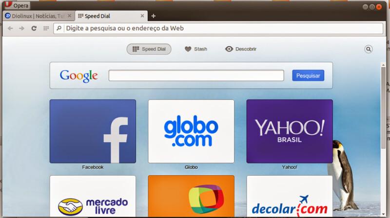 Opera lança versão atualizada de seu navegador para Linux