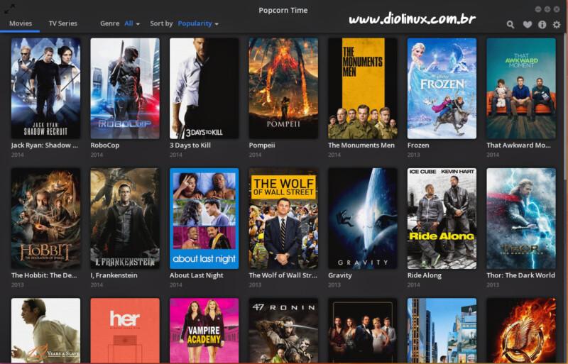 Filmes Online no PopCorn Time diretamente no seu navegador
