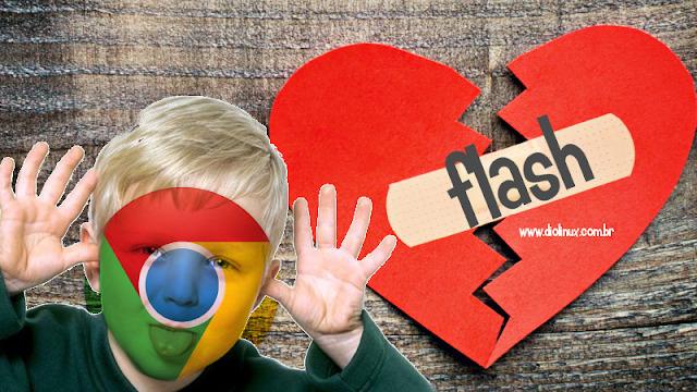 Chrome bloqueará conteúdos em páginas que usam Flash