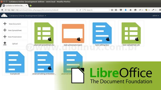 LibreOffice e ownCloud juntos