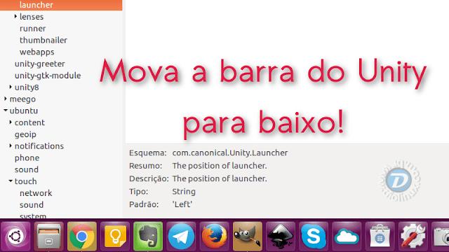 Opção de mover a barra do Unity no Ubuntu para a parte inferior agora é nativa do sistema