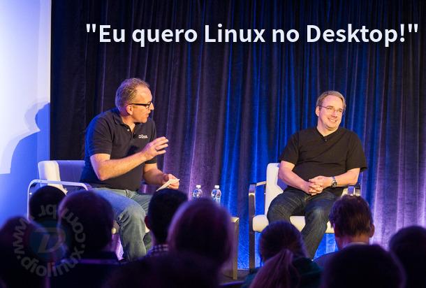 Linus Torvalds quer o Linux dominando o Desktop