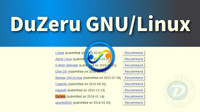 Vote no DuZeru GNU/Linux para o DistroWatch