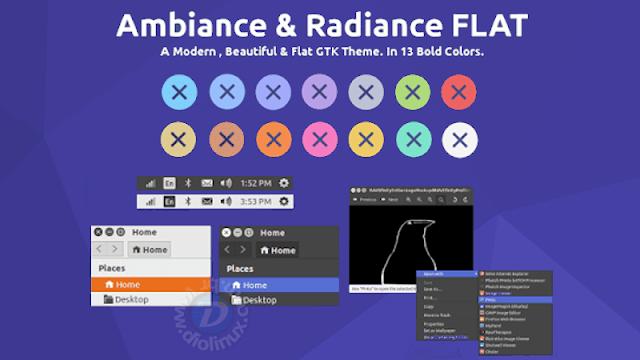 RAVEfinity - Baixe os temas Ambiente e Radiance do Ubuntu no modo Flat