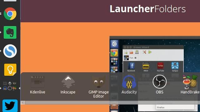 Crie grupos de Apps na barra do Unity no Ubuntu com o LauncherFolders