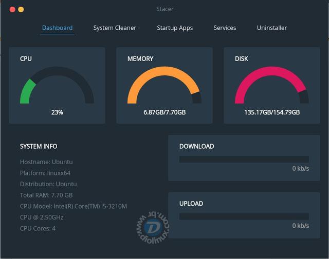Stacer - Um programa para otimizar o Ubuntu