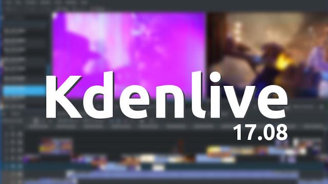 Lançado Kdenlive 17.08 com várias correções de bugs