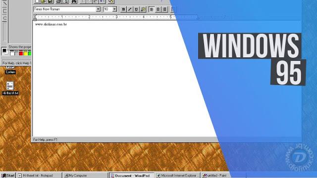 Agora você pode usar o Windows 95 como um App dentro do Linux