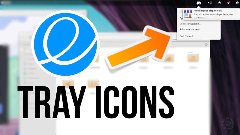 elementary icon tray
