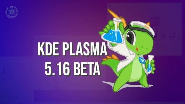 Muitas novidades na versão beta do KDE Plasma 5.16