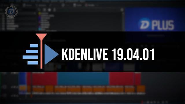 Kdenlive 19.04.01 lançado com diversas correções!