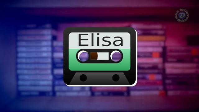 Player de música Elisa, minimalista, bonito e eficiente