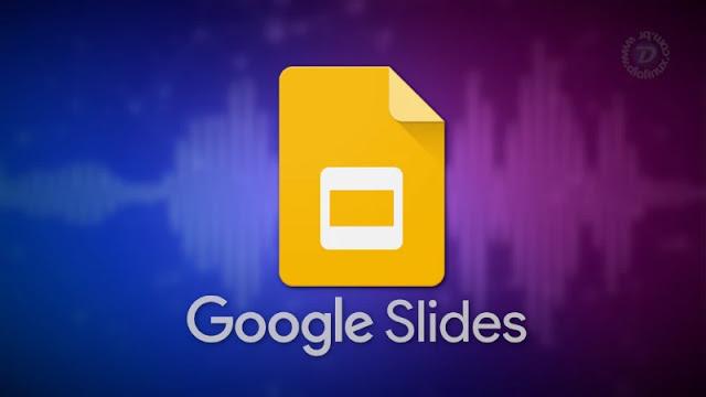 Legendas em tempo real no Google Slides