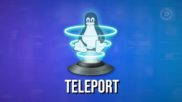 Transferência de arquivos no Linux com o Teleport