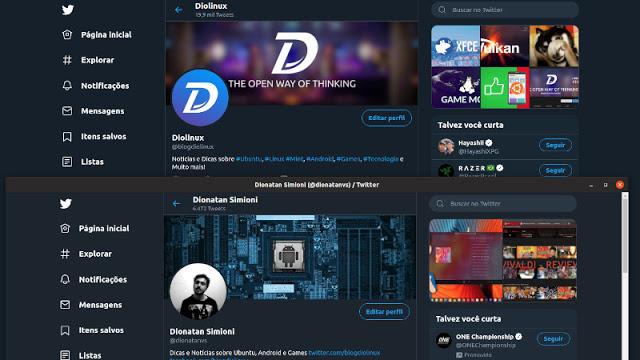 Twinux - Um Cliente de Twitter WebApp para Linux