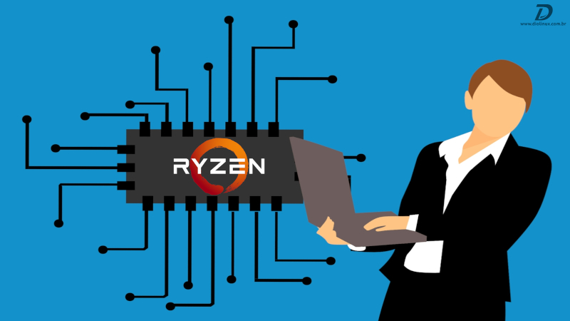 AMD lança driver linux para sensores em notebooks com o CPU Ryzen